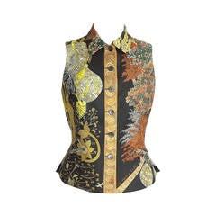 Hermes Vest Les Legendes De L'Arbre Vintage scarf print  38  4