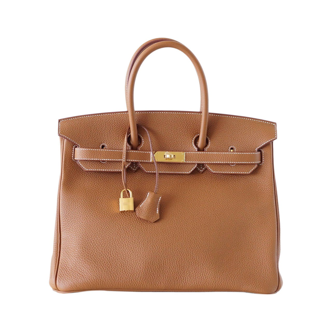 Hermes Birkin 35 Bag Coveted Gold Togo Gold Hardware Iconic Classic For Sale
