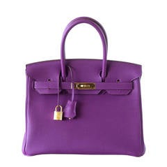 e9bb826701 Hermes Birkin 30 Anemone Purple Togo Gold Hardware Exotic Beauty. Hermes  Birkin 35 Bag ...
