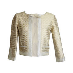 Louis Vuitton Jacket Gold Brocade Beautiful Fabric and Details 34 / 4