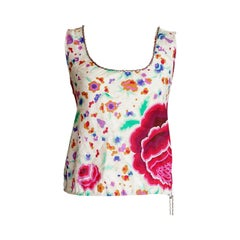 Chanel 04P Cotton Top Lush Flowers Lots CC Signature Chain Detail 40 / 6