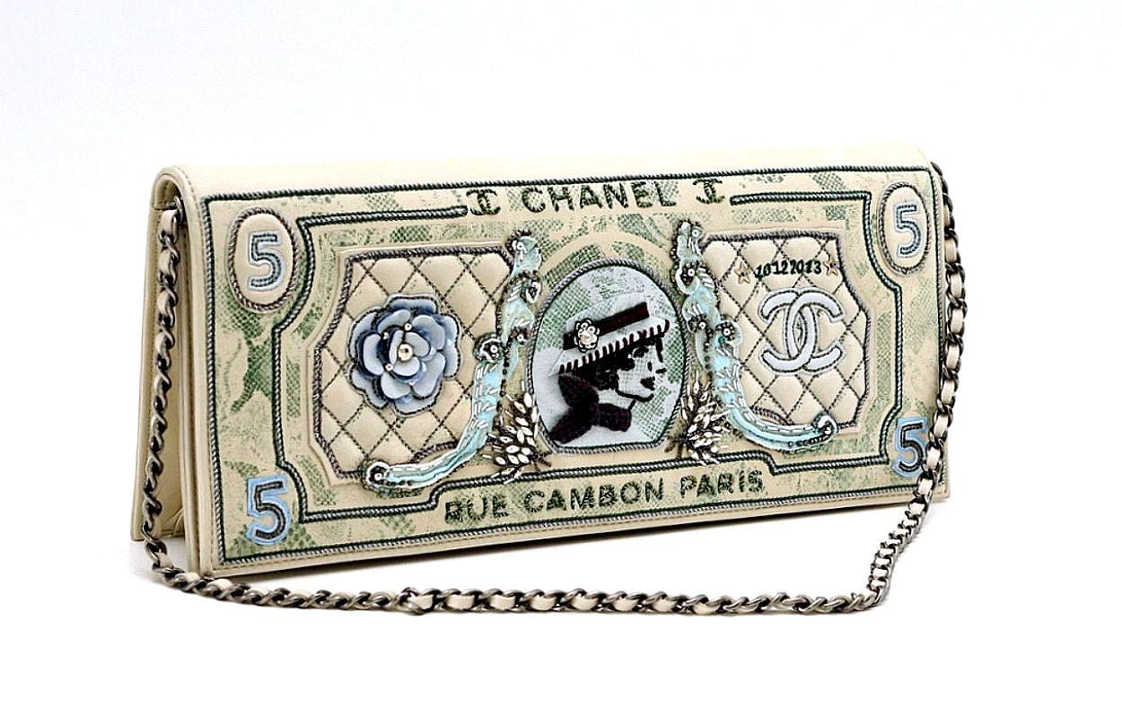 Chanel Runway Dollar Clutch Bag 2014/2015 Very Rare Limited Edition  4
