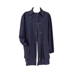 Giorgio Armani Jacket Navy Loro Piana Storm System Wool Windbreaker 44 / 10 Mint