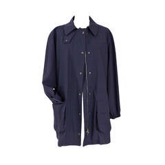 GIORGIO ARMANI Jacket navy Loro Piana storm system wool windbreaker 44 10 MINT