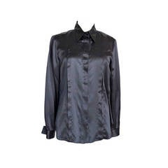 GIORGIO ARMANI top black charming hidden lace inset fits 46 NEW