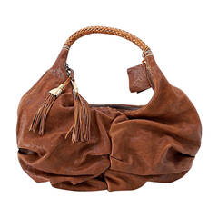 Henry Beguelin Bag Washed Leather Tassels Hobo Style nwt
