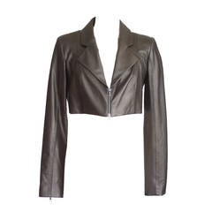 CUSHNIE ET OCHS Jacket Handcrafted Lambskin off black  8  NWT