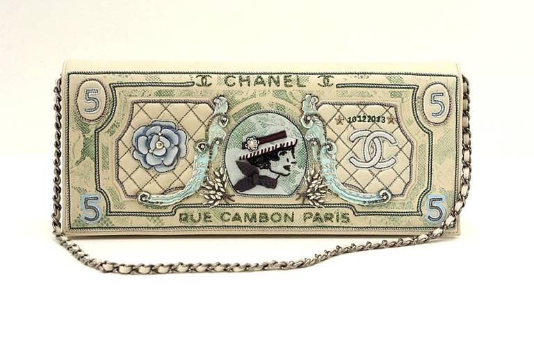 Chanel Runway Dollar Clutch Bag 2014/2015 Very Rare Limited Edition  2