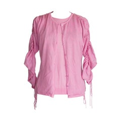 Agnona Soft Pink Cashmere and Silk Twinset
