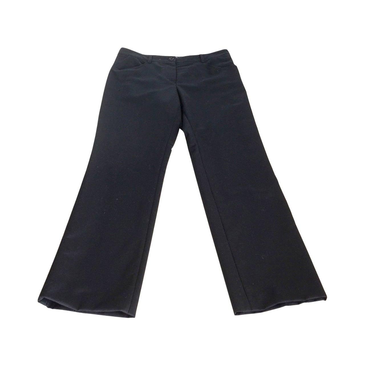 Chanel 04A Pant Black Wool / Cashmere Tuxedo Detail Subtle 36 / 4