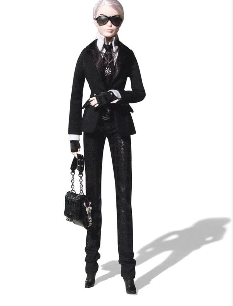 Karl lagerfeld barbie doll platinum label limited edition at 1stdibs