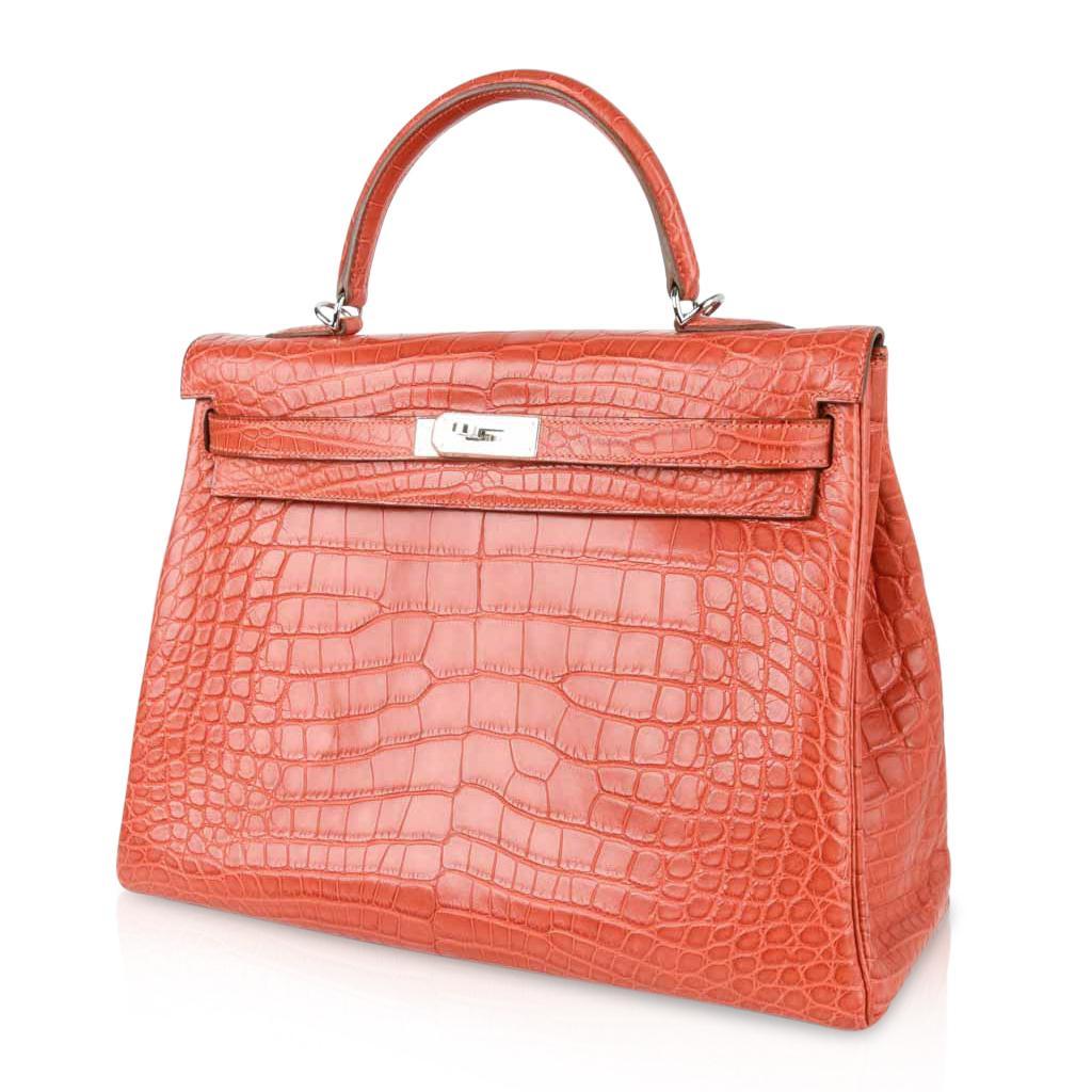 61cd4ca1cf60 ... gold birkin bag 2fcd3 587e9  official hermes kelly bag 35 matte  alligator sanguine supple retourne palladium for sale 3 5a0bf a9790