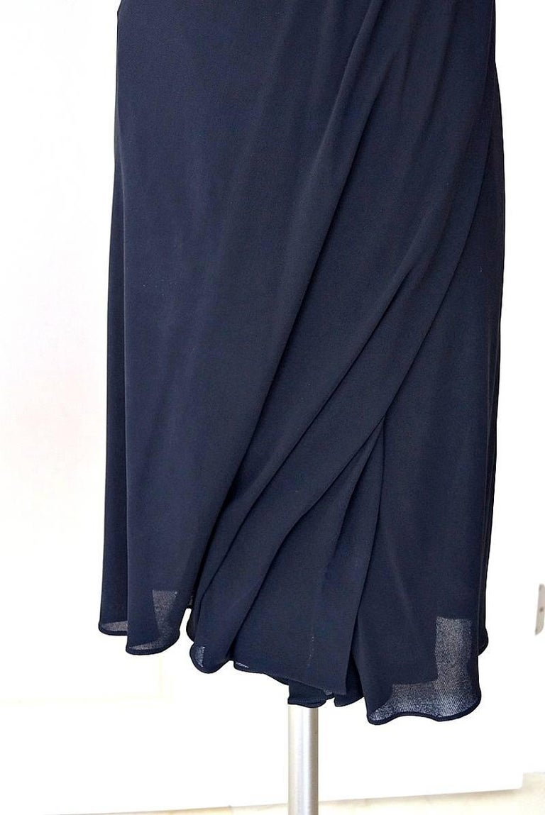 Jean Paul Gaultier Dress Faux Wrap Backless Leather and Buckle Detail 44 / 8 5