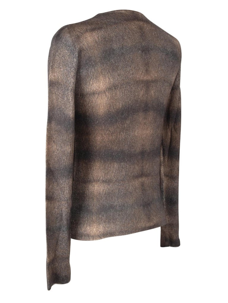 Lucien Pellat-Finet Top Cashmere and Silk M Gorgeous Print Muted Colours M For Sale 1