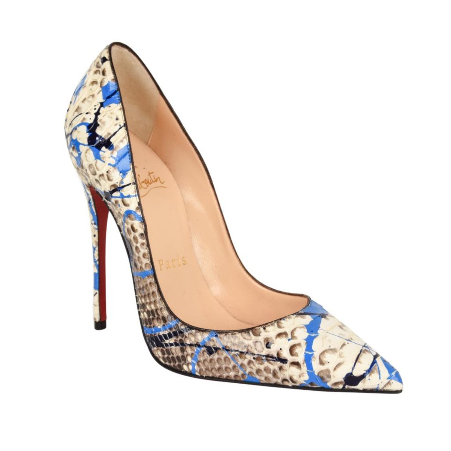 ac4c7f30b33 Christian Louboutin Shoe Python Graffiti Pigalle 115mm 35   5 New For Sale  at 1stdibs