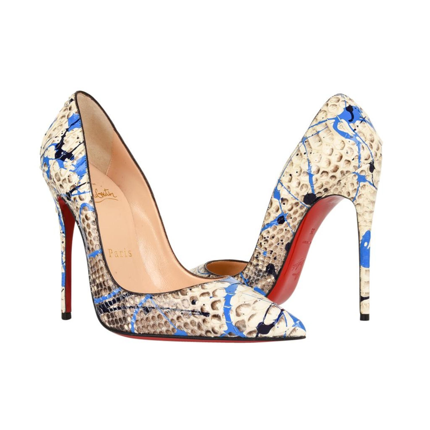 best website 9af31 5e635 Christian Louboutin Shoe Python Graffiti Pigalle 115mm 35 / 5 New