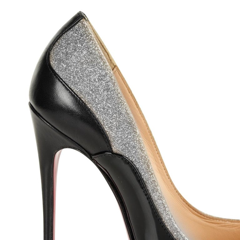 buy online 0c25c 559b6 Christian Louboutin Pigalle Black Patent Shoe with Glitter