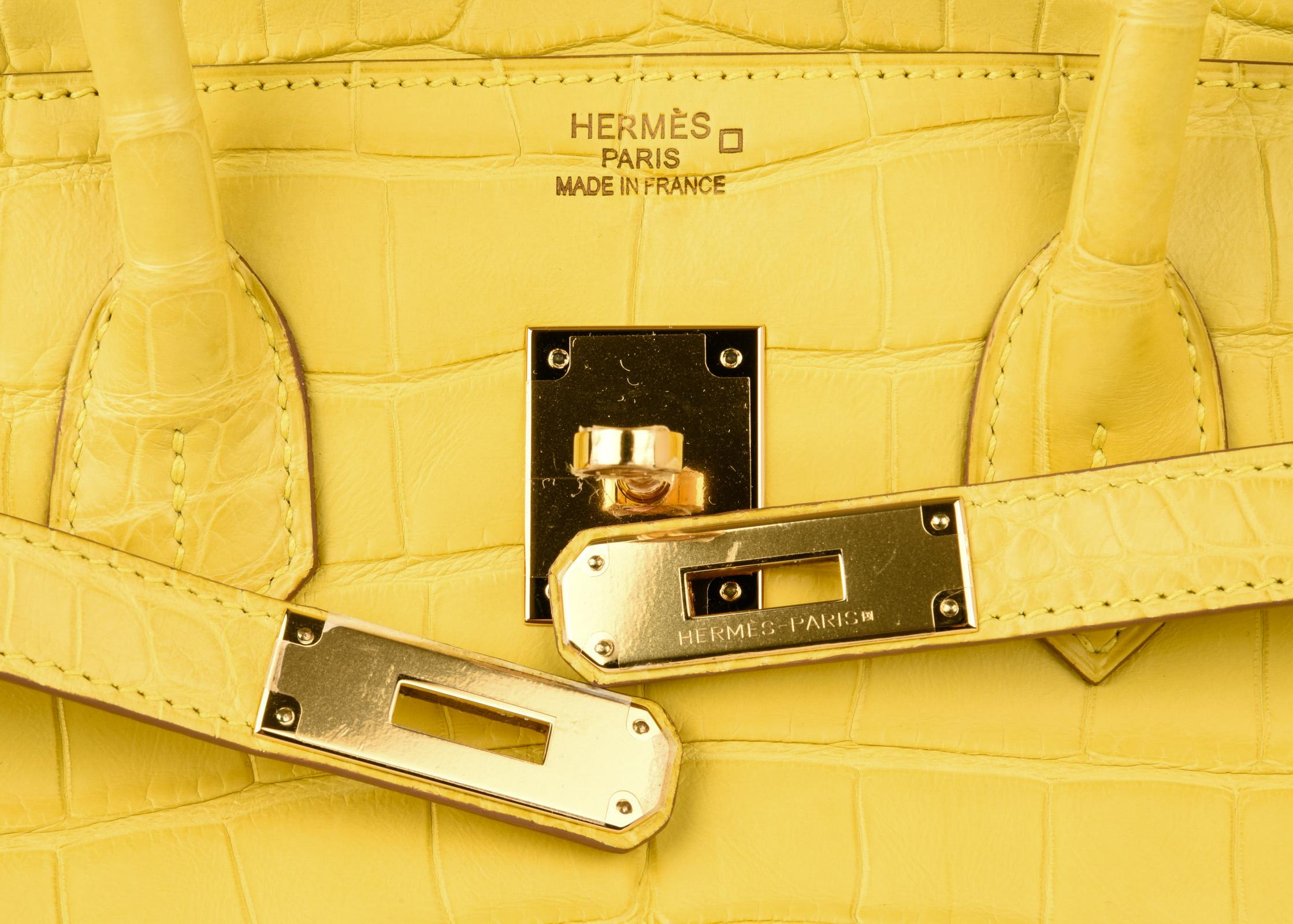 f55fede013 ... best price hermes birkin 35 bag matte mimosa yellow gold hardware crazy  fabulous in new condition