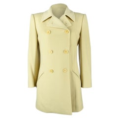 Hermes Vintage Jacket / Car Coat Pale Celadon Green Remarkable Cut 38