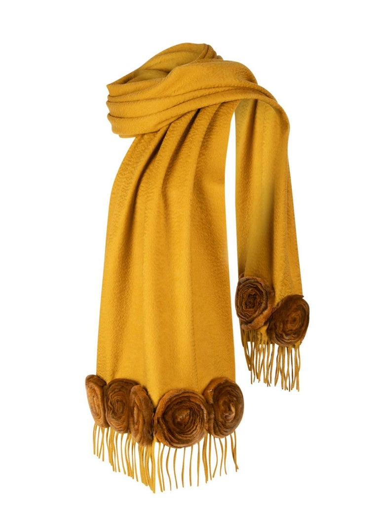 91e5319bc95 Fendi Vintage Scarf Shaved Mink Roses Highly Collectible For Sale at ...