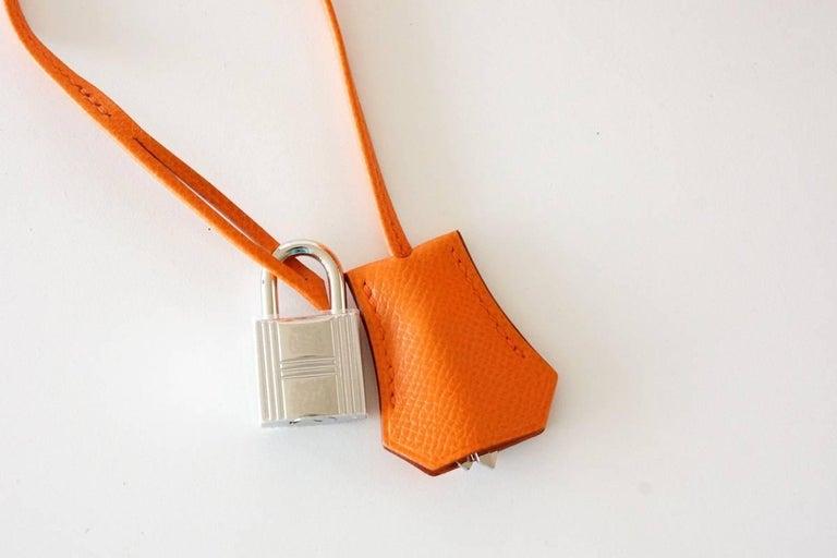 HERMES BIRKIN 35 Bag Signature H Orange Epsom Palladium  4