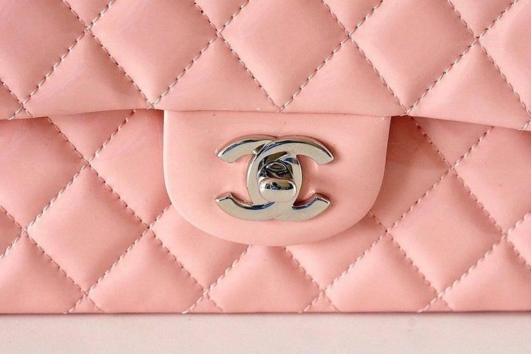 Chanel Bag Medium Classic Flap Pink Patent Cruise 2013  2