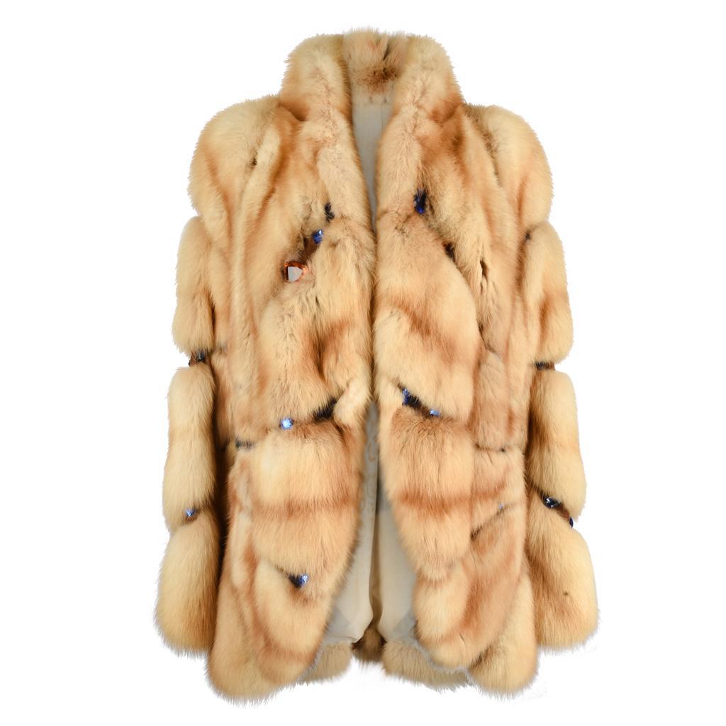Russian Sable Fur Coat / Jacket Jeweled Unique Striking 6 / 8