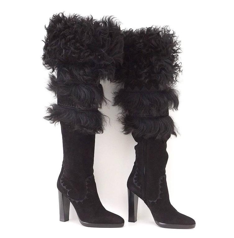 Guaranteed authentic HERMES stunning suede knee high OR over the knee boot.