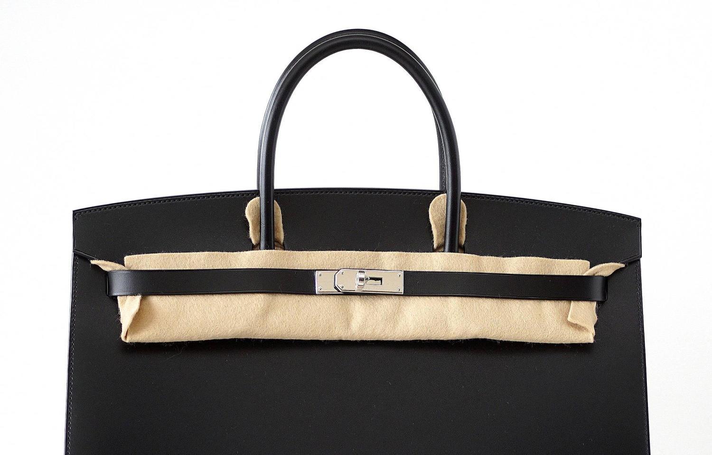 imitation hermes - HERMES BIRKIN 40 Sellier bag BLACK Vache Hunter/Veau Evercalf Rare ...