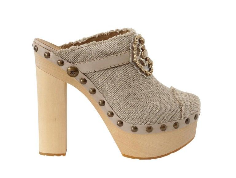 Chanel Shoe Platform Clog Limited Edition Jewel Hardware  40.5 / 10.5 NWB For Sale 2
