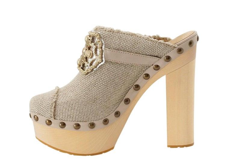 Chanel Shoe Platform Clog Limited Edition Jewel Hardware  40.5 / 10.5 NWB For Sale 1