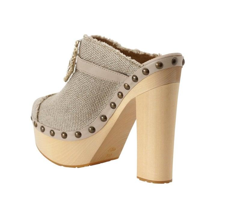 Chanel Shoe Platform Clog Limited Edition Jewel Hardware  40.5 / 10.5 NWB For Sale 3