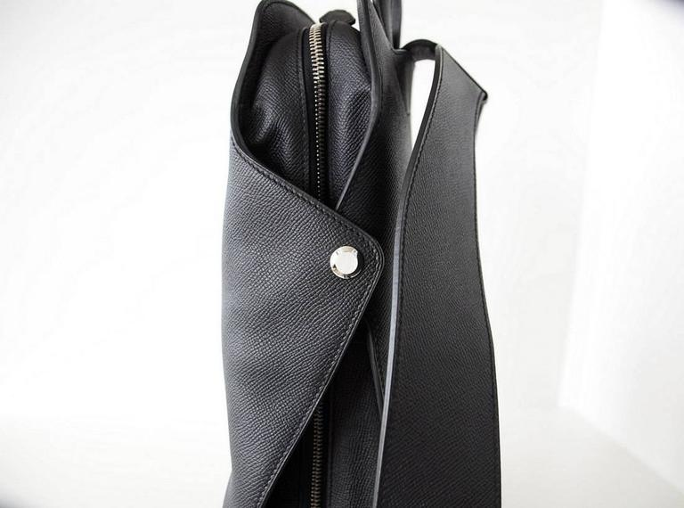 Black Hermes Cityback Limited Edition Gentleman's Backpack Epsom Souple Supple  For Sale