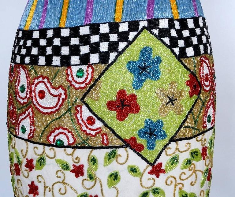 TODD OLDHAM Skirt Remarkable Beaded Vintage S For Sale 1
