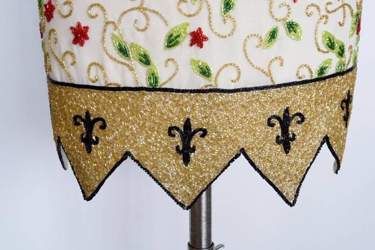 Beige TODD OLDHAM Skirt Remarkable Beaded Vintage S For Sale
