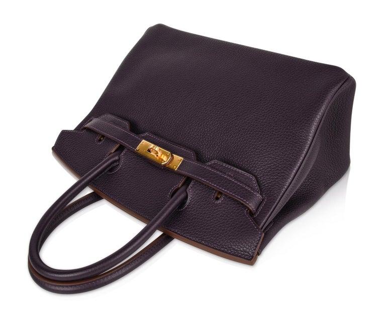 Hermes Birkin 30 Bag Rich Raisin Gold Hardware Original Colour Togo  For Sale 1