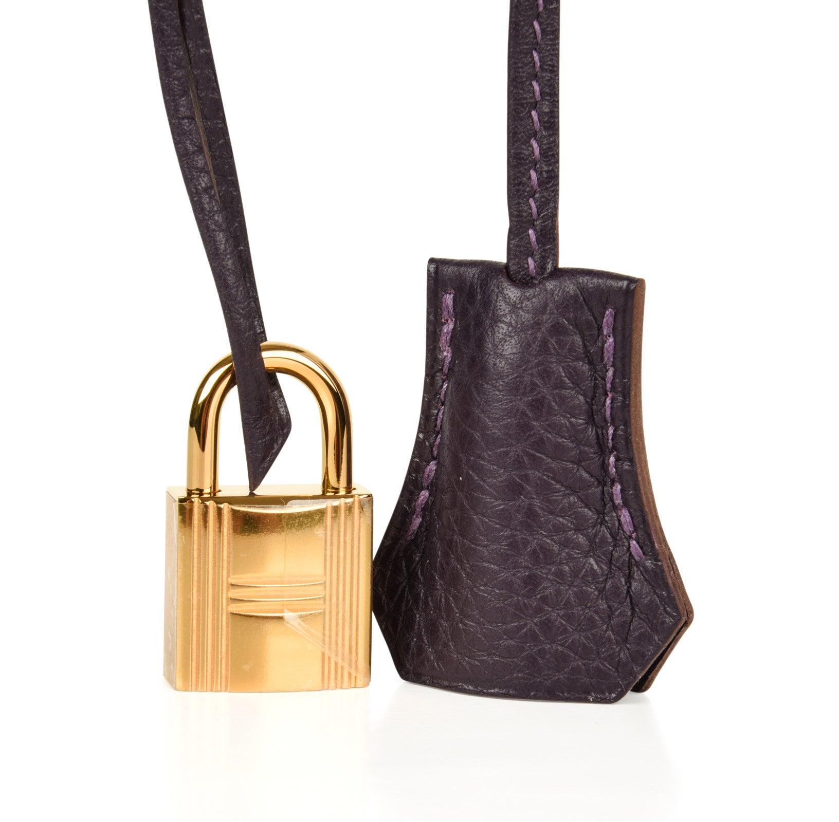 dffd6c0701 Hermes Birkin 30 Rich Raisin Gold Hardware Original Colour Togo Bag For  Sale at 1stdibs