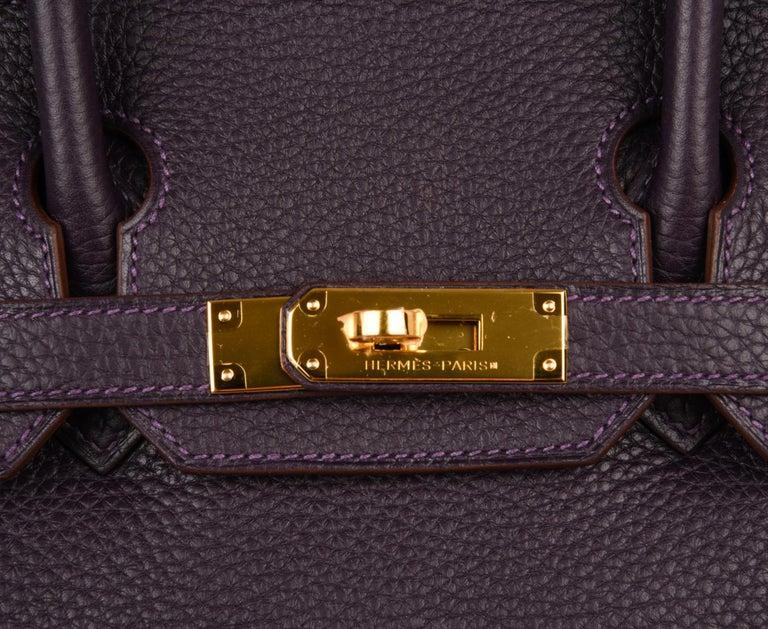 94c6c9d504c2 Women s Hermes Birkin 30 Rich Raisin Gold Hardware Original Colour Togo Bag  For Sale