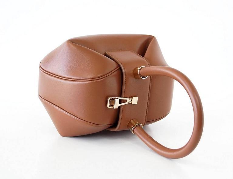NINA Bag Gabriela Hearst Cognac Calf Leather Limited Edition Very Rare 3