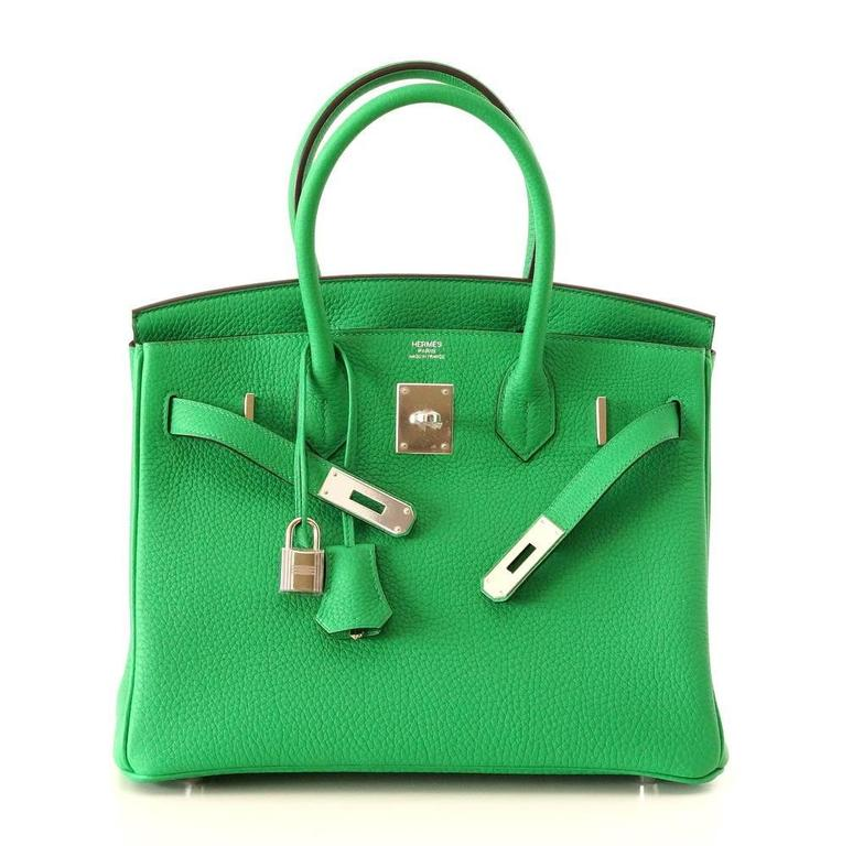 HERMES BIRKIN 30 Brilliant Bamboo Togo Leather  Palladium  2