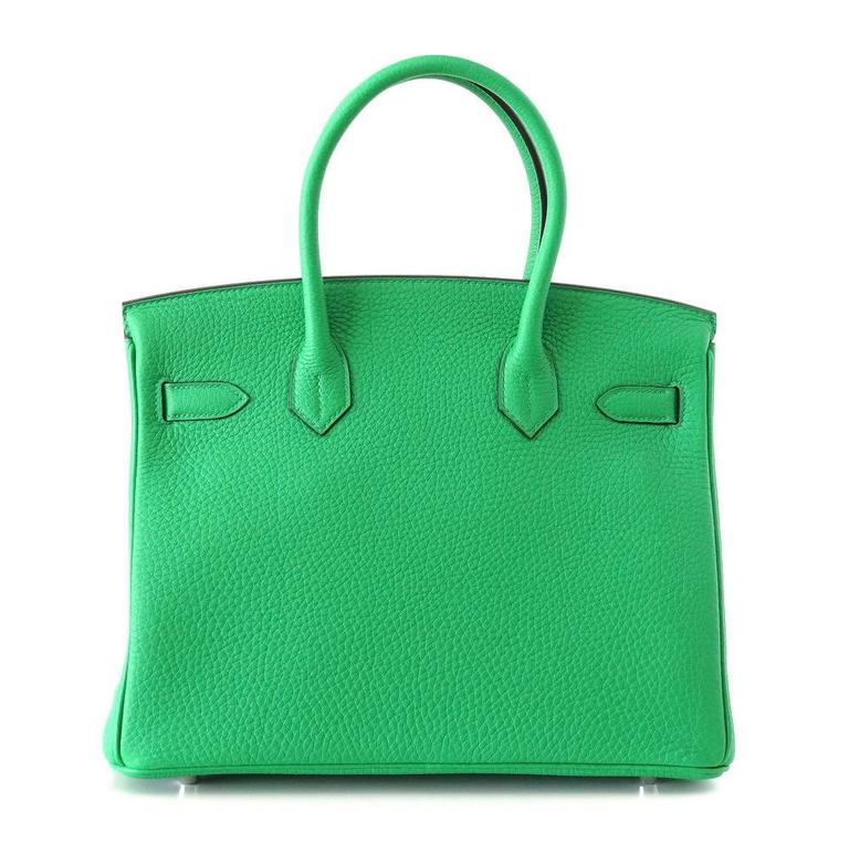 HERMES BIRKIN 30 Brilliant Bamboo Togo Leather  Palladium  3