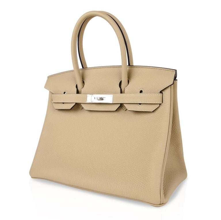 Hermes Birkin 30 Bag Neutral Perfection Trench Palladium Hardware  For Sale 1
