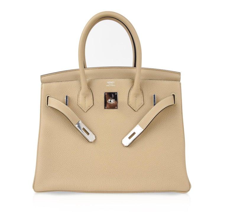 Hermes Birkin 30 Bag Neutral Perfection Trench Palladium Hardware  For Sale 4
