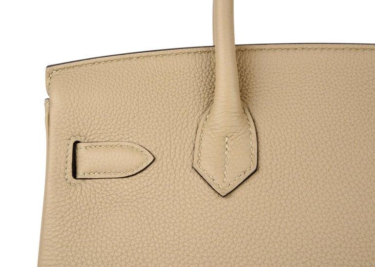 Hermes Birkin 30 Bag Neutral Perfection Trench Palladium Hardware  For Sale 6