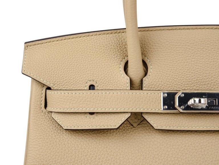 Hermes Birkin 30 Bag Neutral Perfection Trench Palladium Hardware  For Sale 5