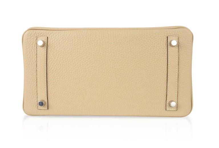 Hermes Birkin 30 Bag Neutral Perfection Trench Palladium Hardware  For Sale 8