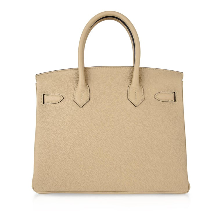 Hermes Birkin 30 Bag Neutral Perfection Trench Palladium Hardware  For Sale 7