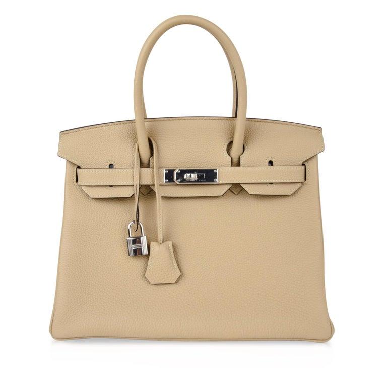 Hermes Birkin 30 Bag Neutral Perfection Trench Palladium Hardware  For Sale 2