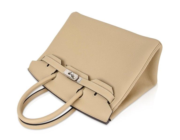 Hermes Birkin 30 Bag Neutral Perfection Trench Palladium Hardware  For Sale 3