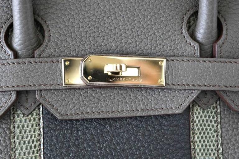 HERMES BIRKIN 35 Bag Limited Edition Club Etain Gray Permabrass rare 2